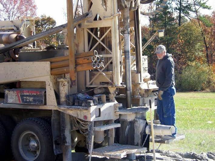 Working on a new well - Sullivan Water Works NC